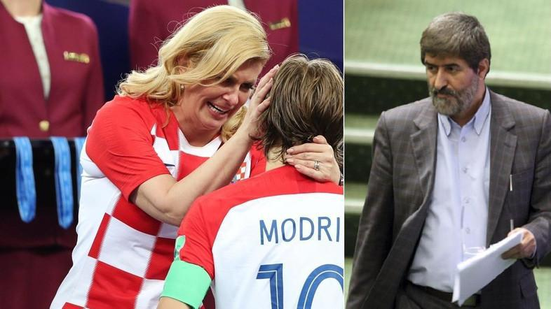 ifmat - Iranian MP forced to justify Croation president World Cup hugs as non-sexual