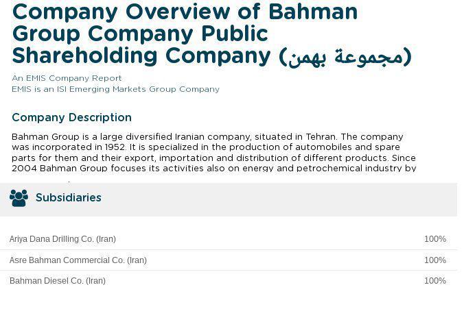ifmat - Bahman Group subsidiaries Asre Bahman