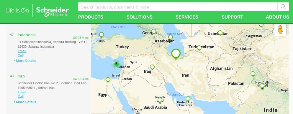 ifmat - schneider electric in Iran
