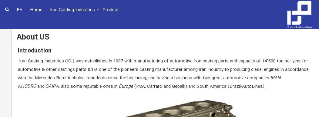 ifmat - Iran casting Industries About Us