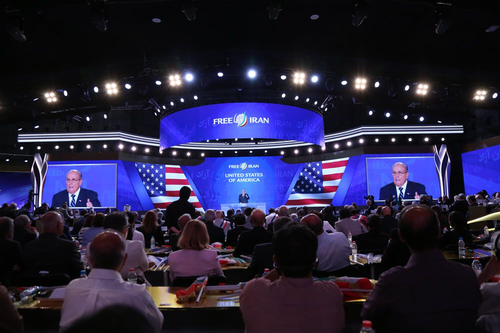 ifmat - During the MEK Rally Giuliani tells Iran Regimes Leaders that they are mass murderers