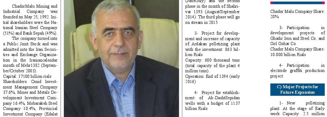 ifmat - chadormalu shareholder