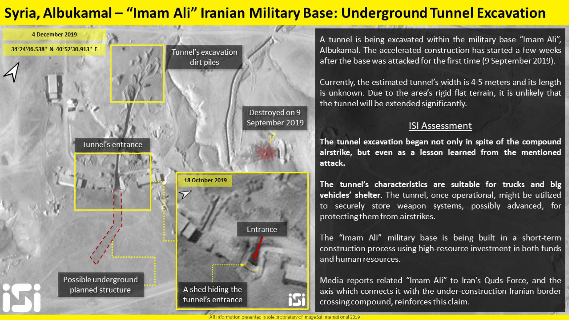 ifmat - Iran building new underground tunnel to house missiles
