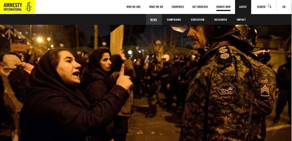 ifmat - Amnesty International says Iran shot protesters over downing of Ukrainian airliner
