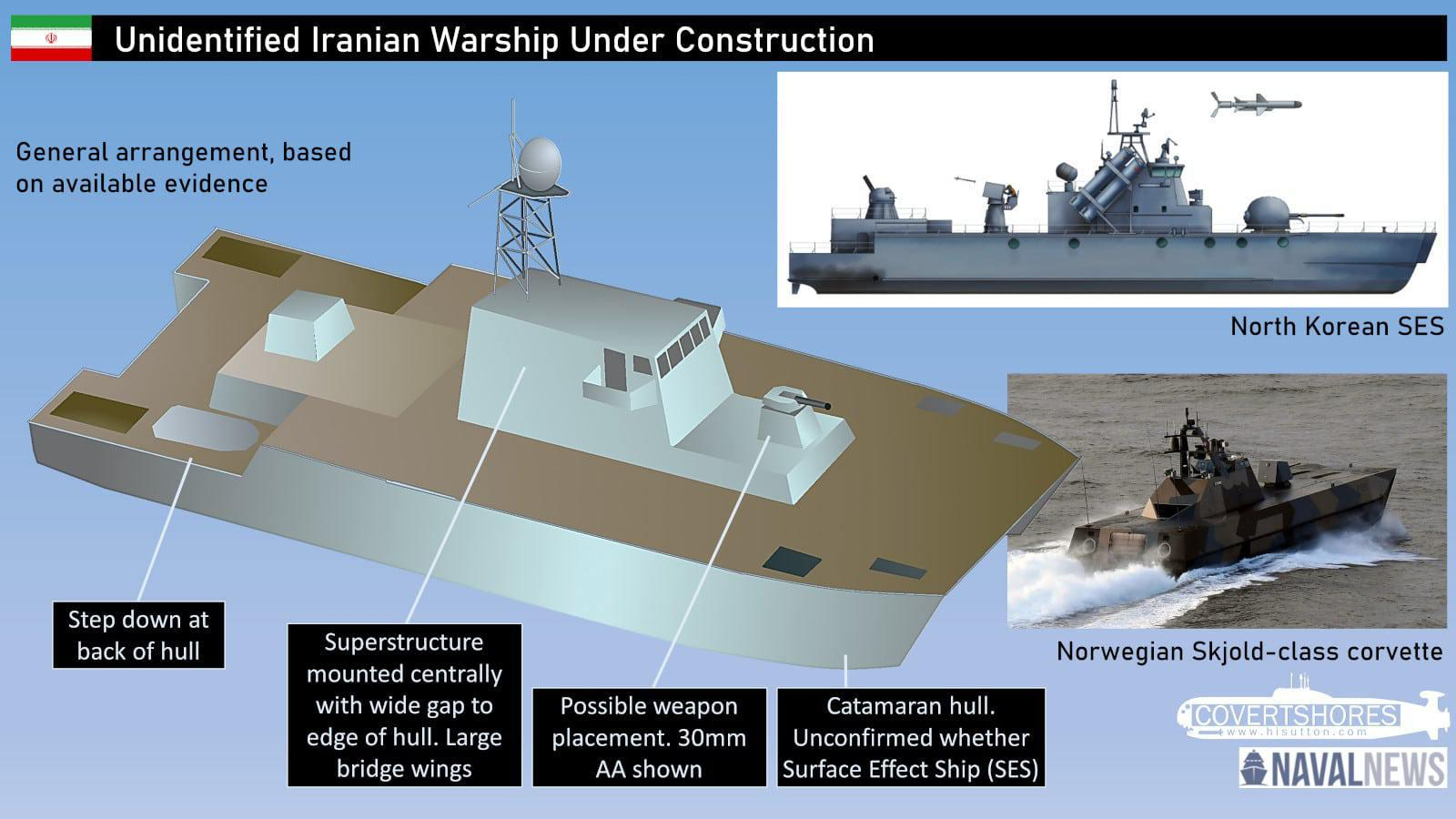 ifmat - Mystery warship seen in Iran may be a completely new type