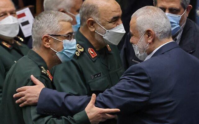 ifmat - Hamas leader and Iranian commanders meet at Raisi swearing-in